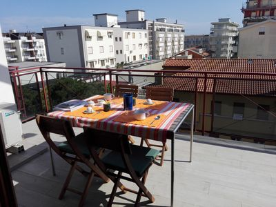 Photo for PENTHOUSE WITH SPLENDID TERRACE A FEW STEPS FROM THE SEA-CENTRAL INCLUDED SEA-BEACH