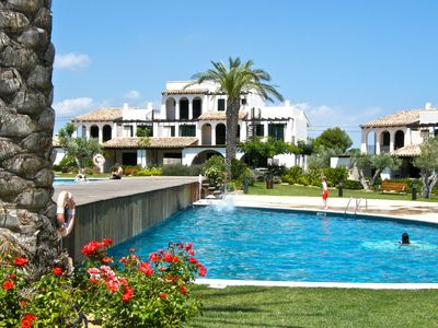 Photo for Casa 21 fabulous gardens, sea-views, twin pools & beach at just 200m