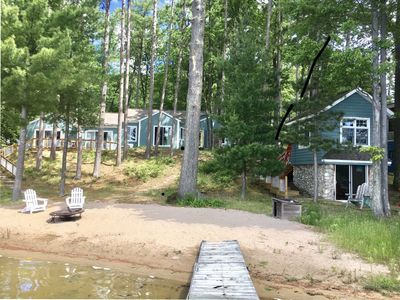 Photo for Quiet Lakefront on all sports lake with 100 feet of sandy beach