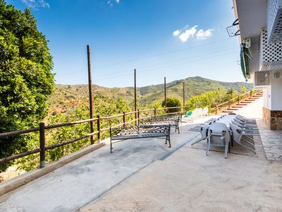 Photo for Air-Conditioned Apartment in the Mountains with Terrace, Mountain Views, Optional Sauna & Whirlpool; Parking Available, Free Wi-Fi
