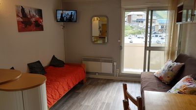 Photo for studio at the foot of the slopes, ideal for hikes, covered parking, balcony
