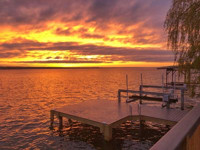 Photo for House at water's edge, over-water deck, dock/boat lift,updated interior, sunsets