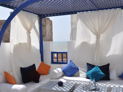 Photo for Riad le Consulat, exceptional location Skala, terrace sea View, ,confort, charm