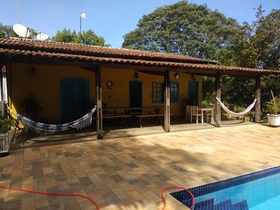 Photo for Wonderful country house with leisure area and private house!