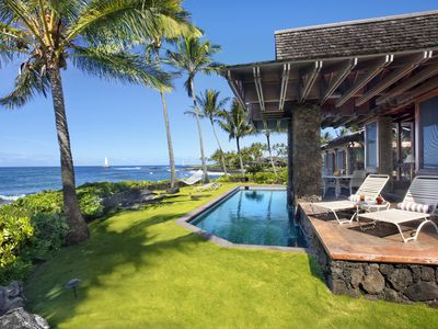 Photo for Sunset Makai Hale: Luxury Oceanfront Home w/ Pool! Extraordinary Sunset Views!