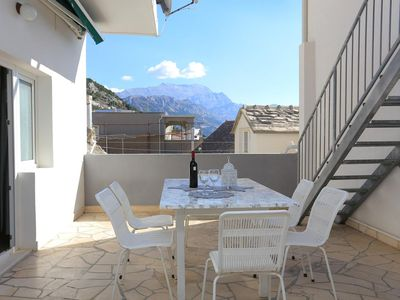 Photo for Three bedroom apartment with terrace and sea view Pisak, Omiš (A-18141-b)
