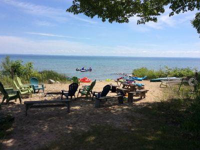 Immaculate 9 Bedroom Beachfront Home on Grand Traverse Bay Sleeps 24