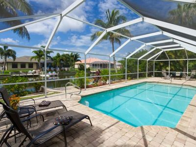 Photo for 3 bedroom, 2 bath house with pool, and jaccuzzi located near Cultural Parkway in Cape Coral