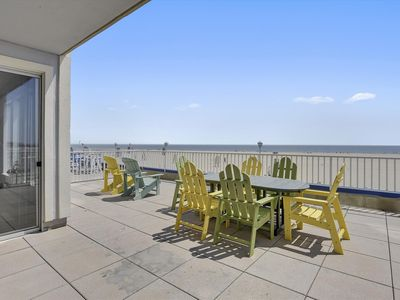 Photo for 3 Bedroom Oceanfront Right on OCMD Boardwalk! Steps from the Beach - Huge Balcony, Pool & Great Views!