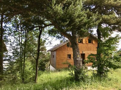 Photo for Wooden chalet in the mountains, with views ...