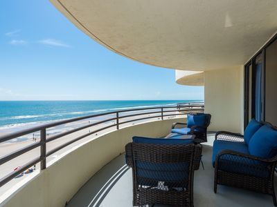 Photo for Gorgeous direct oceanfront, 2b/2ba condo with expansive balcony and great views