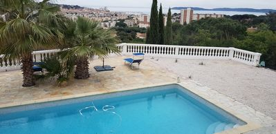 Photo for Villa with pool in Sainte-Maxime sea view, village, golf