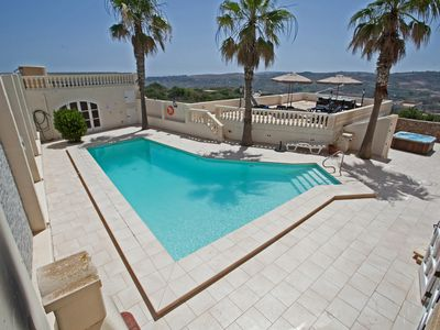 Photo for Detached Villa with swimming pool and outdoor Jacuzzi, Fully A/c in Xaghra,Gozo