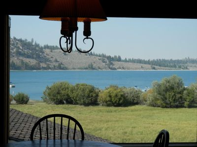 Photo for MAGNIFICENT PANORAMIC VIEW OF JUNE LAKE THROUGH LARGE PICTURE WINDOW FOR YOUR ENJOYMENT