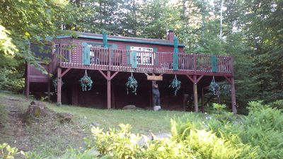 Photo for Romantic Getaway Very private cabin overlooking Sawyer Lake / WIFI & Cable TV