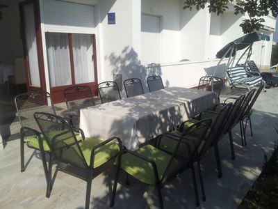 Photo for Four bedroom apartment with terrace Banjol (Rab)