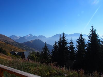 Photo for Old Alpe. 3 bedroom apartment 70 sqm balcony view on the mountains garage
