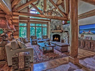 Photo for Luxury ski home with private sauna, entertaiment room, grill: Stonewood Manor