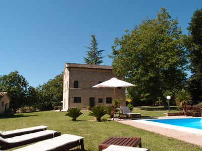 Photo for Chic country house with private pool in Le Marche, Italy