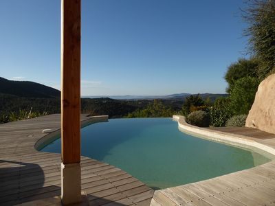 Photo for Villa 6/8 people with swimming pool and panoramic sea view