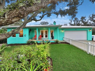 Photo for NEW LISTING! Charming home w/back patio & chef's kitchen - 2 blocks to beach