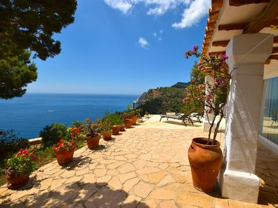 Photo for IBICENCA BEAUTIFUL HOUSE WITH SPECTACULAR VIEWS TO THE SEA AND THE ISLAND