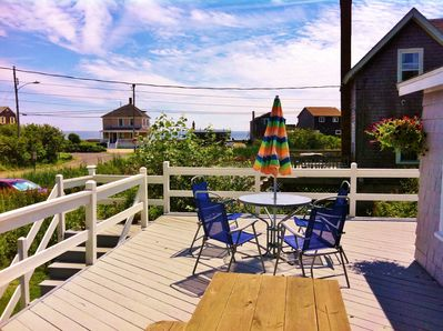 Ocean view from the spacious deck - perfect for sunning, dining, and happy hours