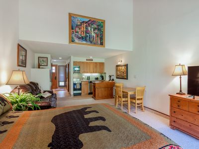 Photo for Cozy mtn studio w/ patio, shared pool & great views - close to skiing & golf