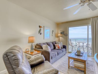 Photo for 3rd Floor Gulf Front Condo w/ Beach Setup Included, Near Entertainment