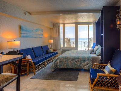 Photo for Absolutely Outstanding Beachfront Studio.  Fabulous Decoration and an Amazing View.