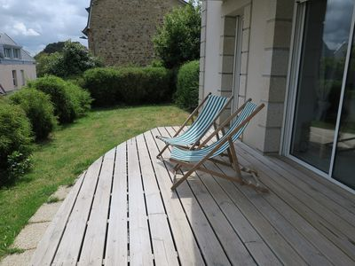 Photo for Beautiful apartment with terrace and garden 100m from the port of PERROS-GUIREC