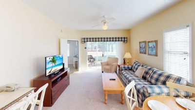 Photo for Bright, Sunny Golf Course View End Unit Condo! Close to Beach, INCLUDES WiFi & Amenities!