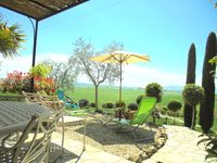 Beautiful views in picture book Tuscany.
