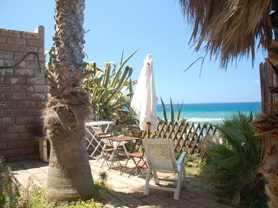 Photo for Villa Bosa, waterfront apartment, private stairway to the beach, WIFI, sleep 2
