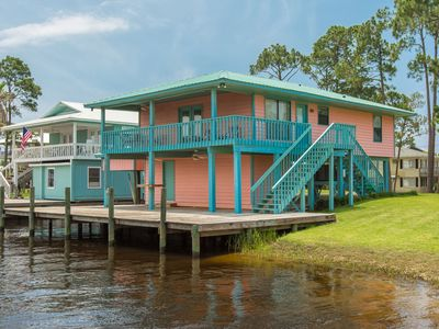 Photo for Charming canal front home w/Gulf views & private fishing dock