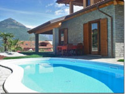 Photo for Villa with whirlpool and infrared cabin /sauna, tub, garden and swimming pool.