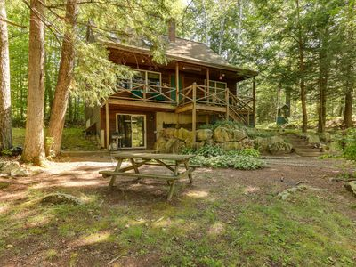 Lake Kanasatka Beach Access Cottage with Shaded Porch, Hiking and Private Trout Pond