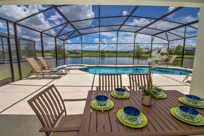 Enjoy your own private pool and outdoor dining under the covered lanai