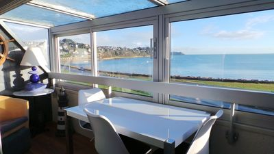 Photo for Beautiful renovated apartment with panoramic sea view in PERROS-GUIREC
