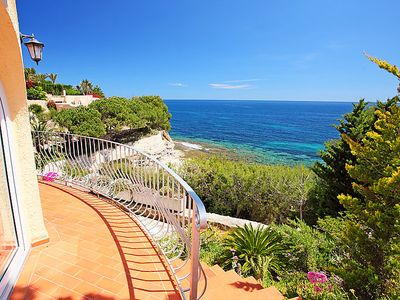 Photo for Beach villa with tennis court and own beach access up to 8 persons