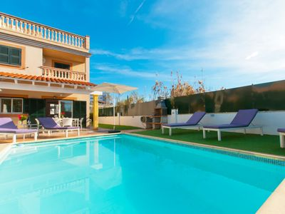 Photo for Can Xisco 2, villa with private pool 200m from the beach