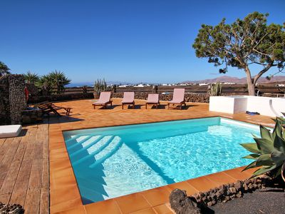Photo for Amazing Panoramic Sea Views, the Island of Fueterventura and the Mountains