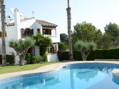 Photo for Large villa on the Costa Blanca at Campo de Golf Villamartin close to the sea