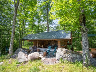 Your Private Hill-top Lean-to! Comes furnished and with cooking gear.
