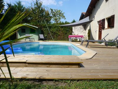 Photo for Charming villa Landaise (120 m2) with swimming pool - 8 pers