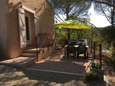 Photo for Apartment in a villa - under the pine trees - very quiet - 6 people