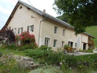 Photo for Large bright studio, calm, former farm of Vercors, 1 k of Méaudre center