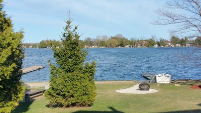 View of Lake, Dock and Fire Pit