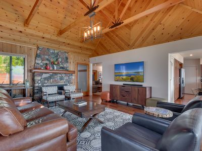 Photo for NEW LISTING - 5 BR Lakefront with Sandy Beach, Pier, Hot Tub, & Pet-friendly!