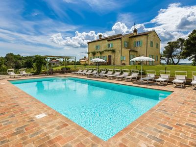 Photo for Villa Vista Mare, magnificent villa in the north of the Marche region, near the Adriatic Coast.